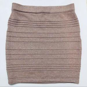 Nude Pink Glitter Skirt